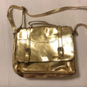 Gold Mossimo crossbody bag